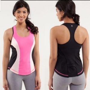 Lululemon Cardio Kick Pink Tank top Size 6